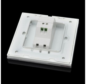 SMEONG Crystal Glass Panel Telephone Wall Mount Socket Outlet with Screws White
