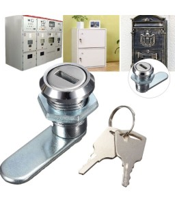 Cam Lock Desk Drawer Lock with 2 Keys for Cupboard Mailbox etc