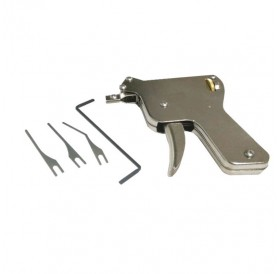 1pc Door Lock Multifunctional Unlocking Gun Tools - Silver