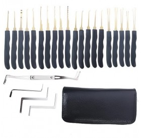 24pcs Single Hook Locksmith Lock Pick Set Tools Kit