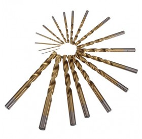 19pcs 1-10mm HSS Titanium Straight Shank Twist Drill Bits Set