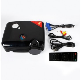 ProHome PH5 2500 Lumens 800*600 LED Projector Home Theater with HDMI USB VGA Input Black US Plug