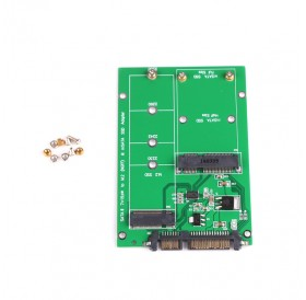 1pc NGFF M.2 B+M KEY or mSATA SSD to SATA III 3 Adapter Card