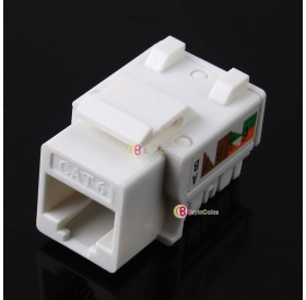 10pcs CAT6 RJ45 110 Punch Down Keystone Network Ethernet Jack