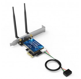 2.4Ghz 5Ghz wireless network card integrated Bluetooth 5.0 PCI-E port 2*5dBi dual antenna support win10 64-bit system