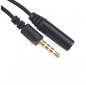 1M 3.5mm Male to Female 4 Pole Jack Stereo Audio Headphone Extension Cable #02