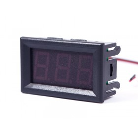 1/3PCS DC 0-30V Blue LED 3-Digital Display Voltage Voltmeter Panel Motorcycle #1
