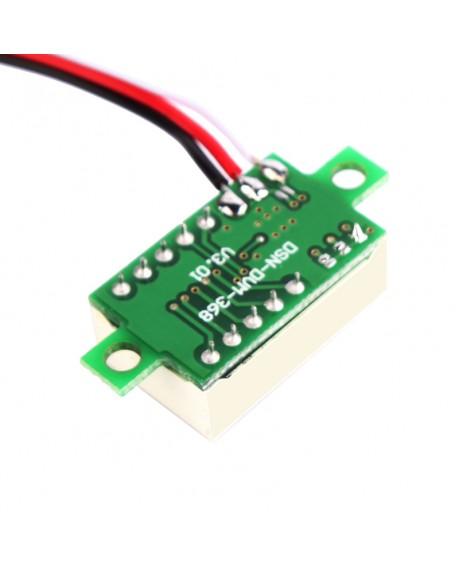 1/3Pcs DC 0-30V Red LED Display Digital Voltage Voltmeter Panel Motor Motorcycle