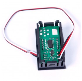 1/3PCS DC 0-30V Red LED 3-Digital Display Voltage Voltmeter Panel Motorcycle 01