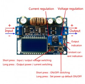 30V 4A LCD Constant Current/Voltage Adjustable Automatic Step-Up Down Power Supply Module