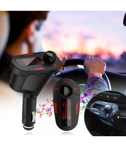 "1.2"" LCD Car Kit Digital MP3 Player USB Charger Wireless FM Modulator Transmitter w/ Remote"