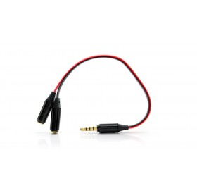 3.5mm Male to Dual Female Audio Split Y-Cable