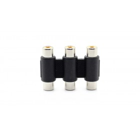 3-RCA Composite AV Female to Female Adapter