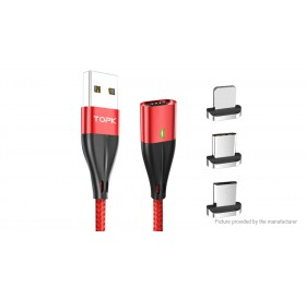 TOPK Micro-USB/USB-C/8-pin to USB 2.0 Date & Charging Cable (100cm)