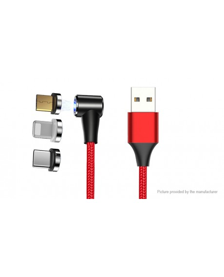 Cafele 3-in-1 8-pin/Micro-USB/USB-C to USB 2.0 Data & Charging Cable (200cm)