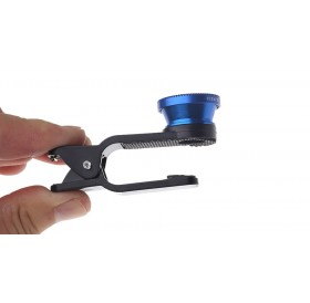 Universal 3-in-1 Clip-On Fisheye + Wide Angle + Macro Lens Set